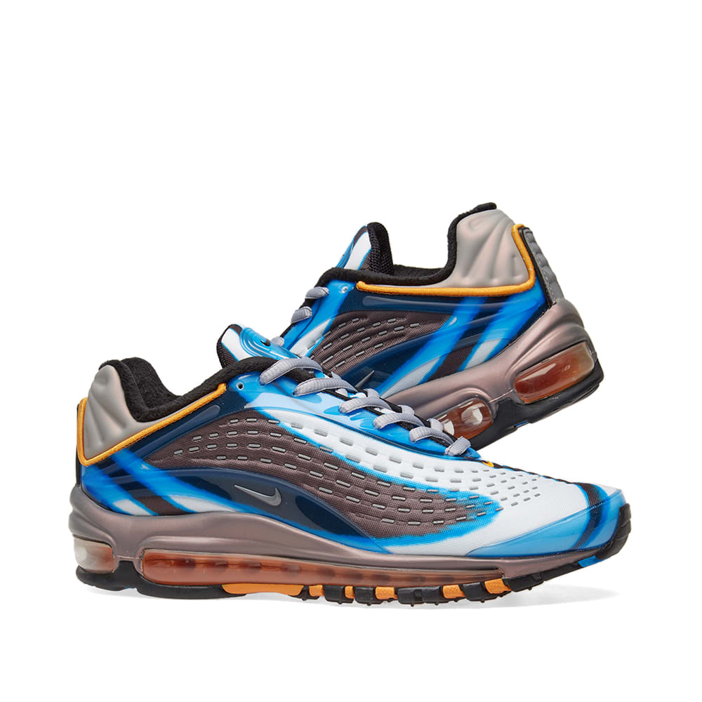 Womens Nike Air Max Deluxe Blue Grey Orange Uk Size 8