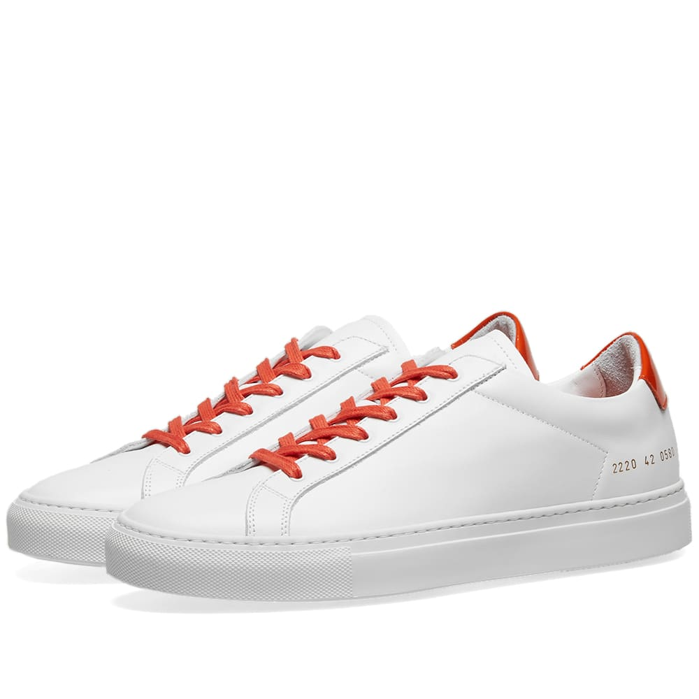 Common Projects Retro Low Glossy White