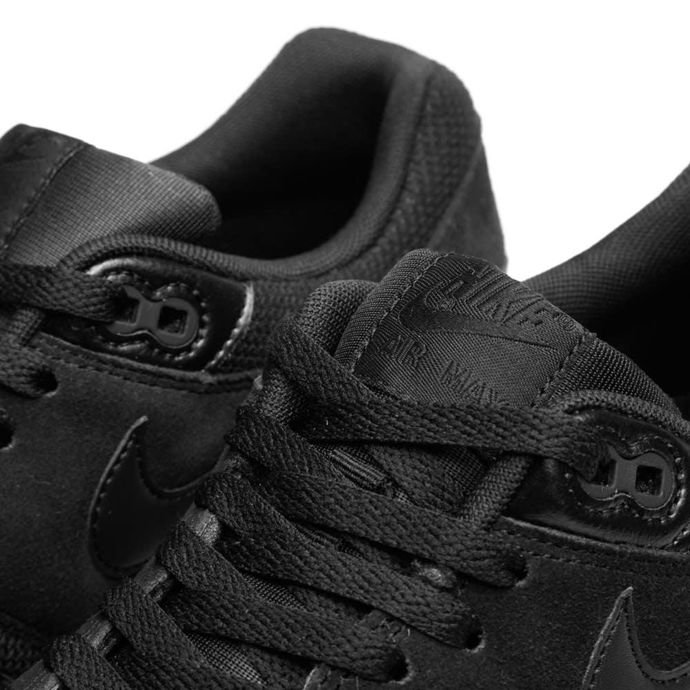 sports shoes 0f7c2 397d6 Nike Air Max 1 Essential  Triple Black  Black   END.