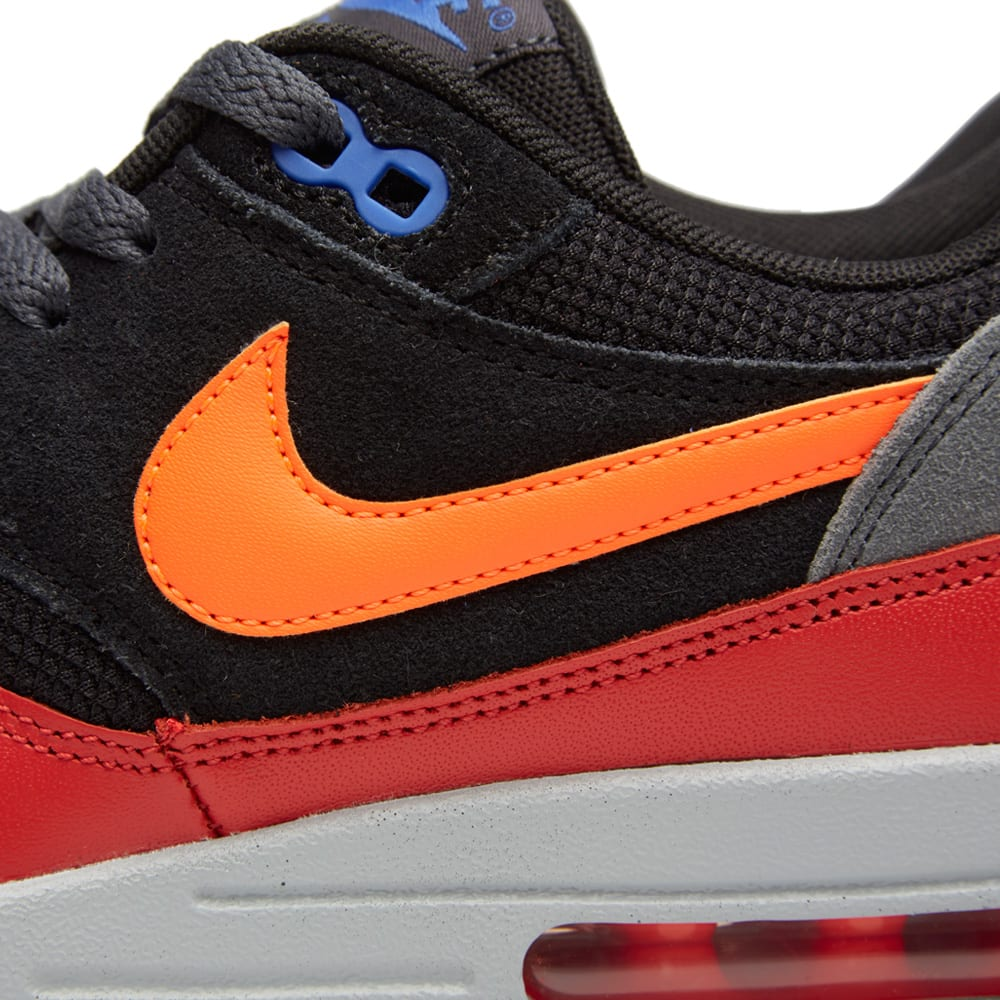 d46f1eb687 Nike Air Max 1 Essential Black & Hyper Crimson | END.