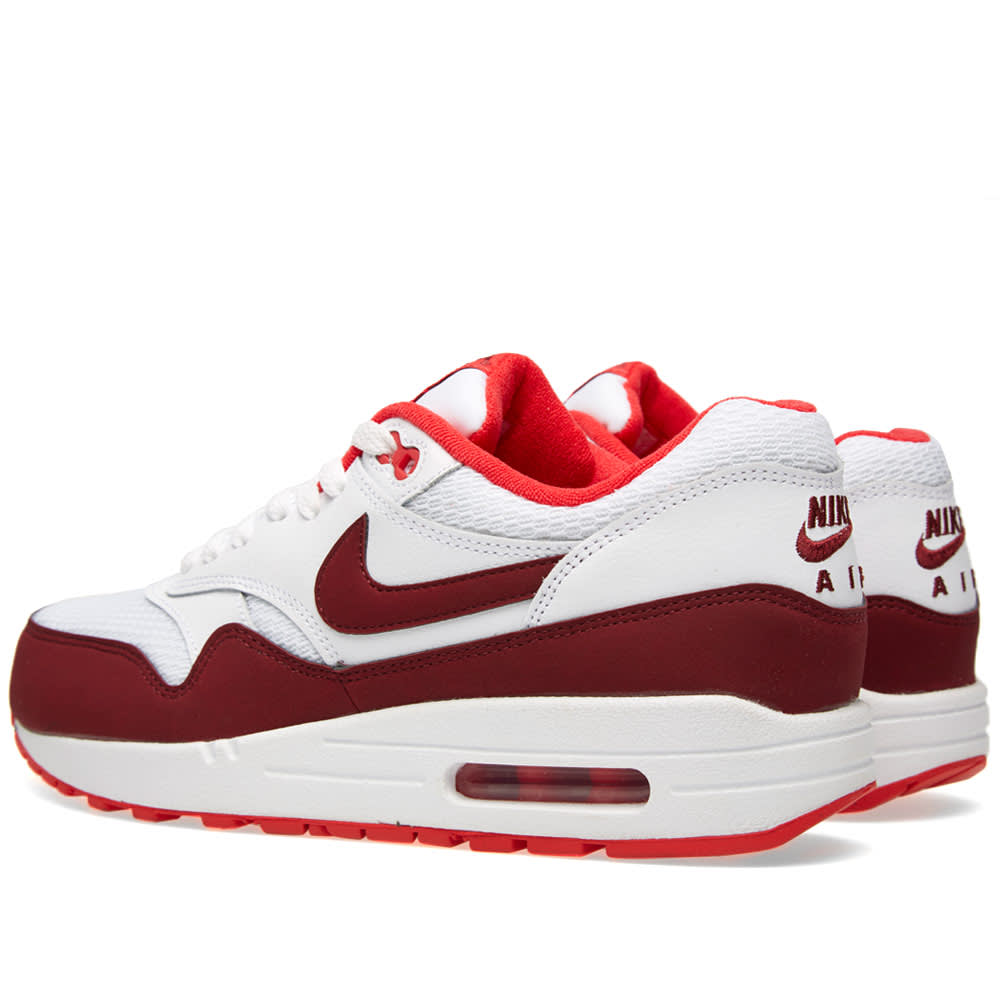 sneakers for cheap 71556 0b901 Nike Air Max 1 Essential White, Team Red   Action Red   END.