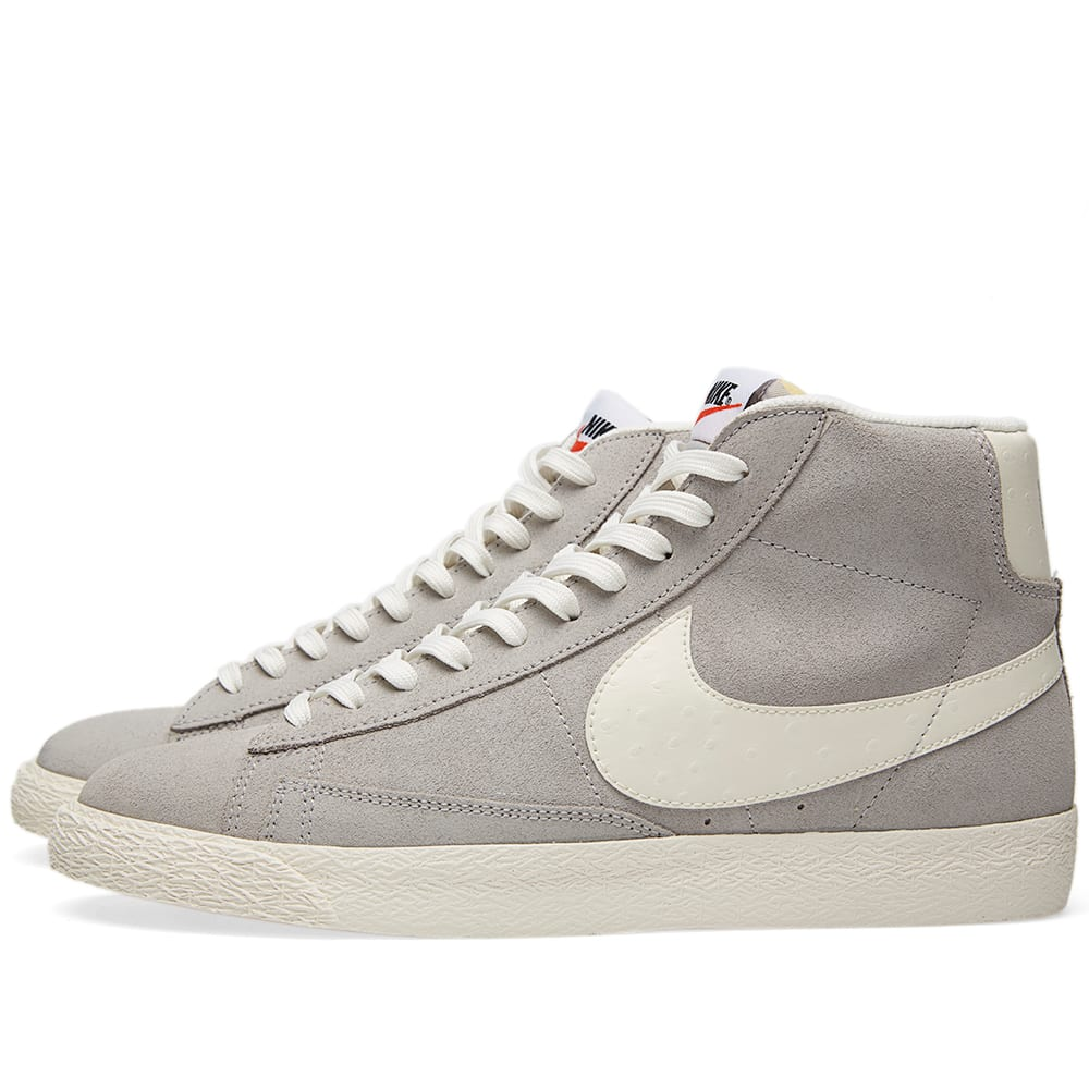 best sneakers 7d963 1dd33 Nike Blazer Mid PRM VNTG Wolf Grey, Sail   White   END.