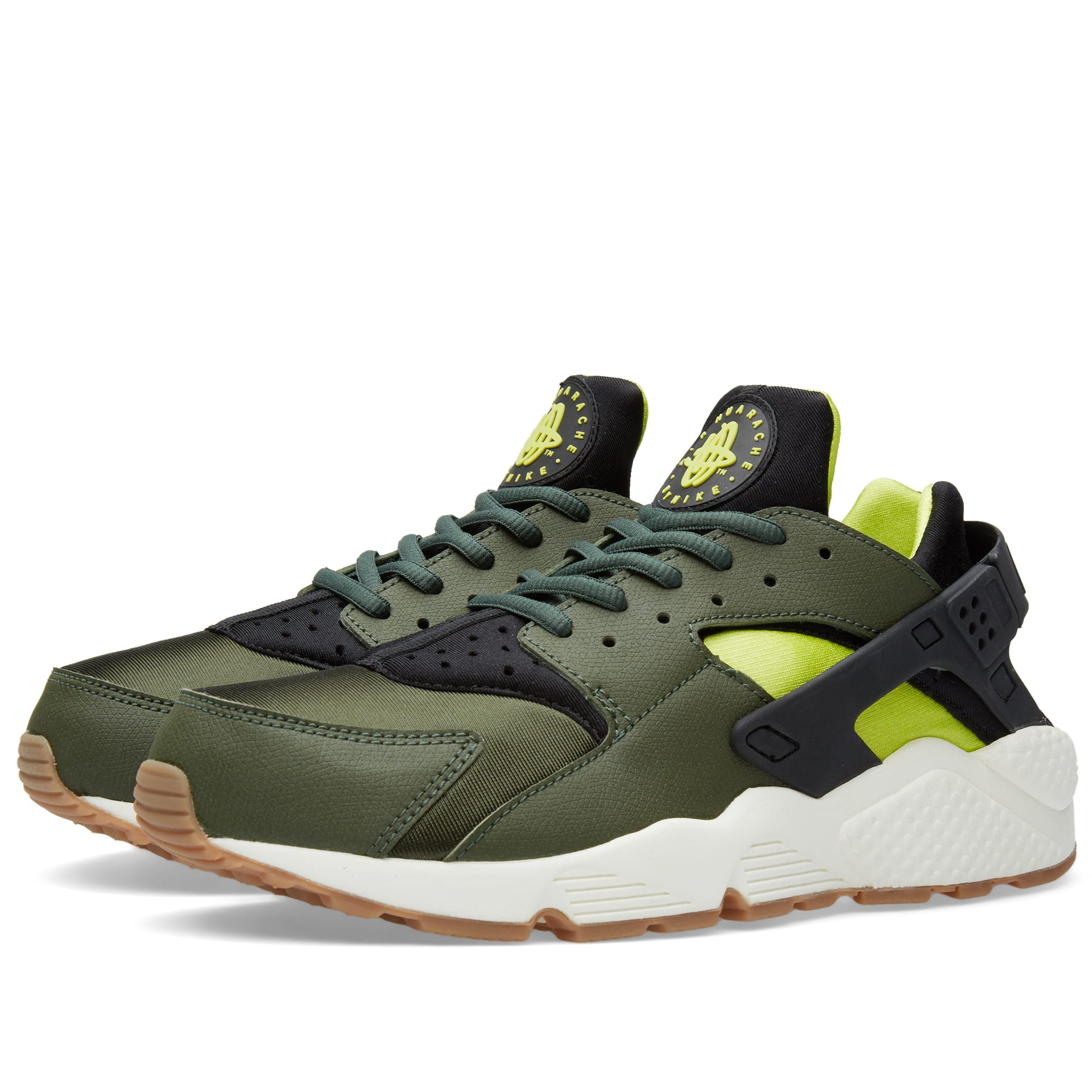 nike w air huarache run carbon green black. Black Bedroom Furniture Sets. Home Design Ideas