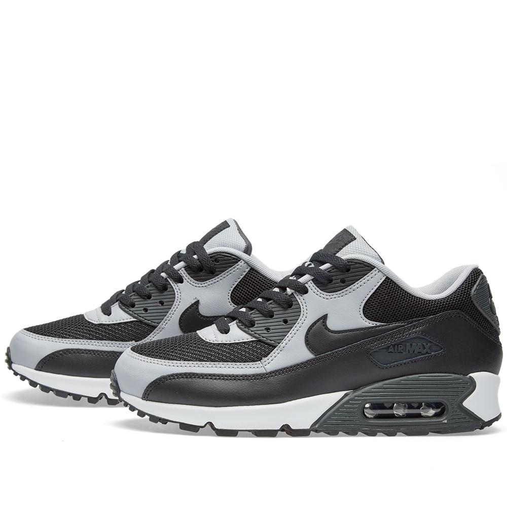 san francisco 07f0f 75c61 Nike Air Max 90 Essential Black, Wolf Grey   Anthracite   END.