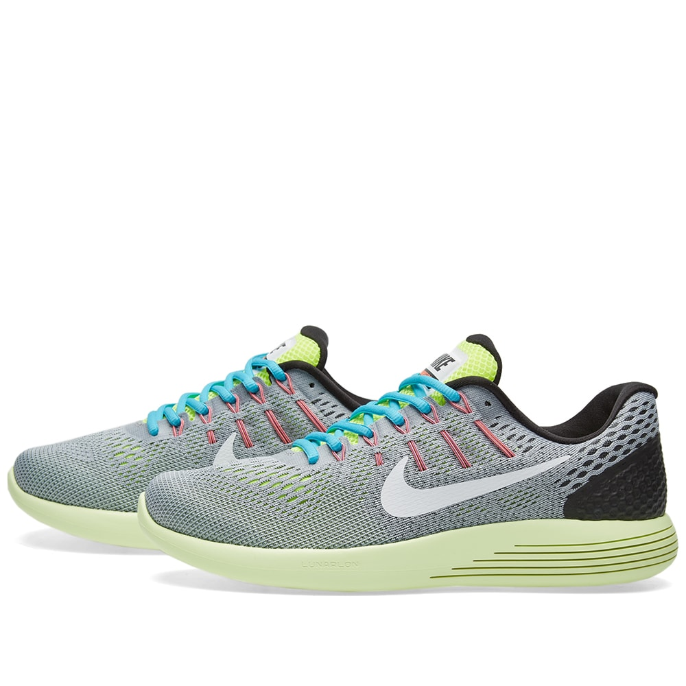 100% authentic 745a0 17635 Nike Lunarglide 8 Wolf Grey, White   Volt   END.
