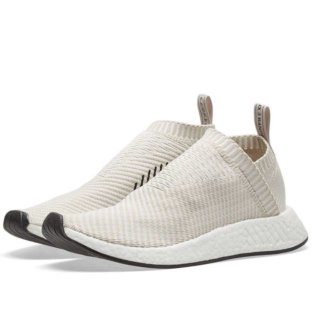 Adidas W NMD CS2 Primeknit size 8.5. BA7213. Pearl Grey White