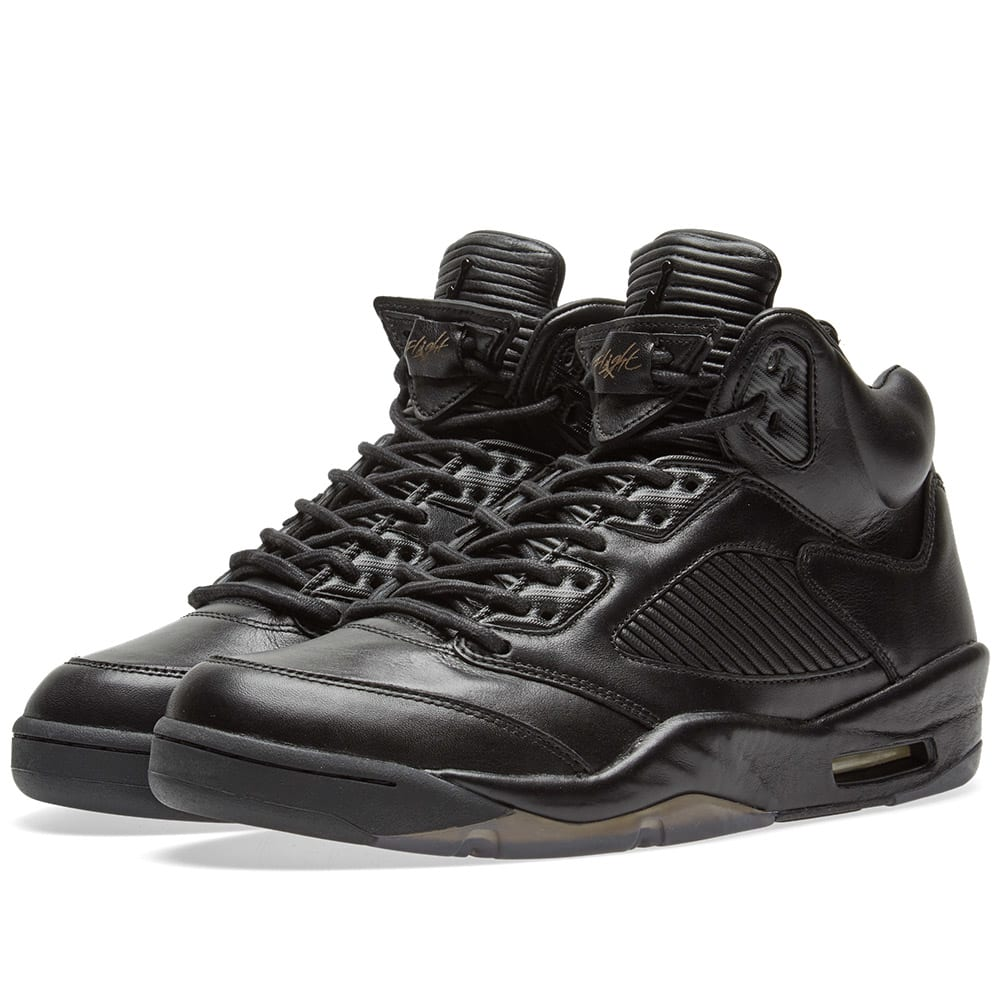 0b75412151e09a Nike Air Jordan 5 Premium  Flight Jacket  Black