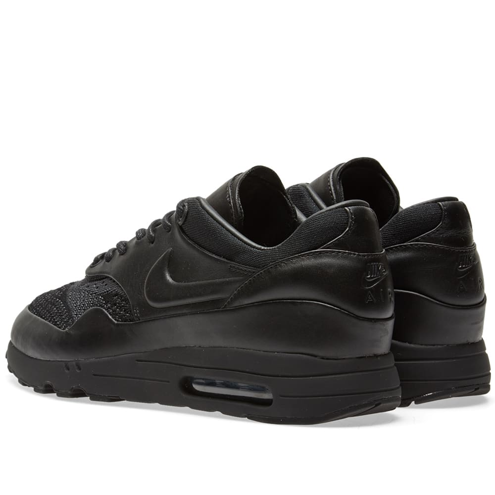 super popular c0f89 bbbb3 NikeLab x Arthur Huang Air Max 1 Flyknit Royal Black & Anthracite | END.