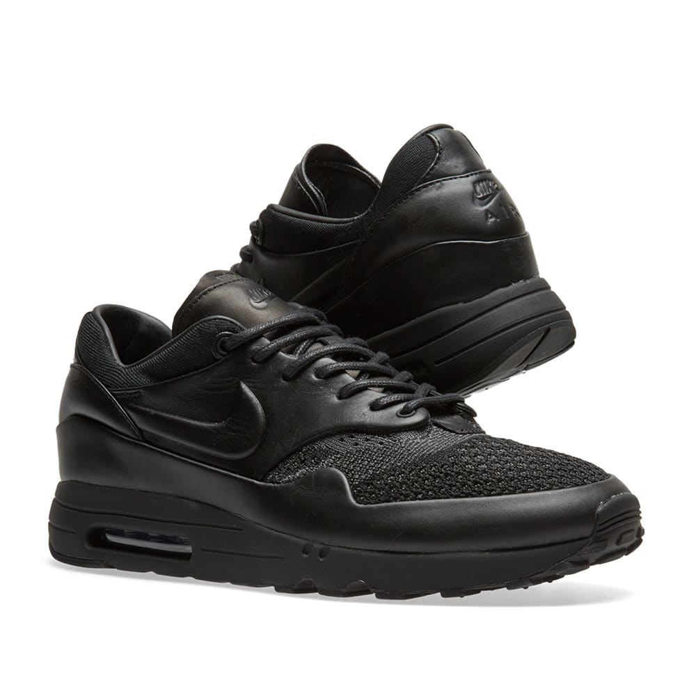 ff7e4ebfea4f3 NikeLab x Arthur Huang Air Max 1 Flyknit Royal Black   Anthracite
