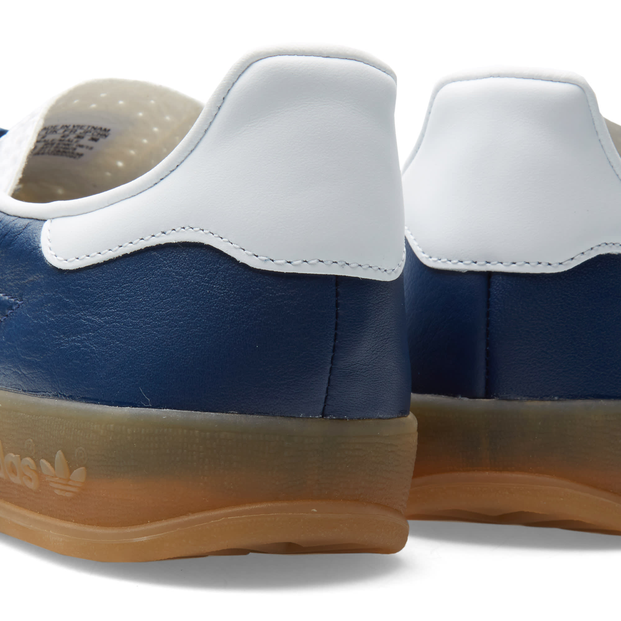 low priced b36f4 e3bee Adidas Gazelle Indoor Oxford Blue, White   Gum   END.