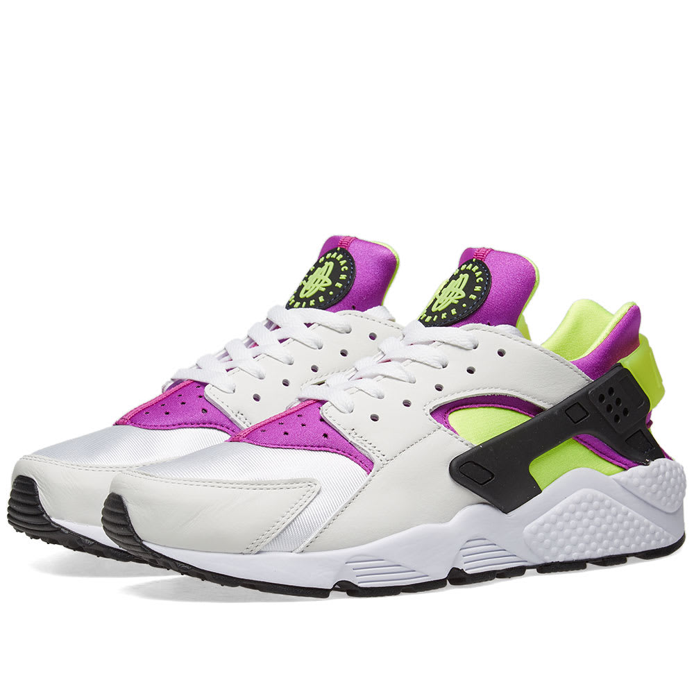 c951c3303c9f ... neon yellow magenta  nike air huarache run 91 qs white black yellow  magenta end.