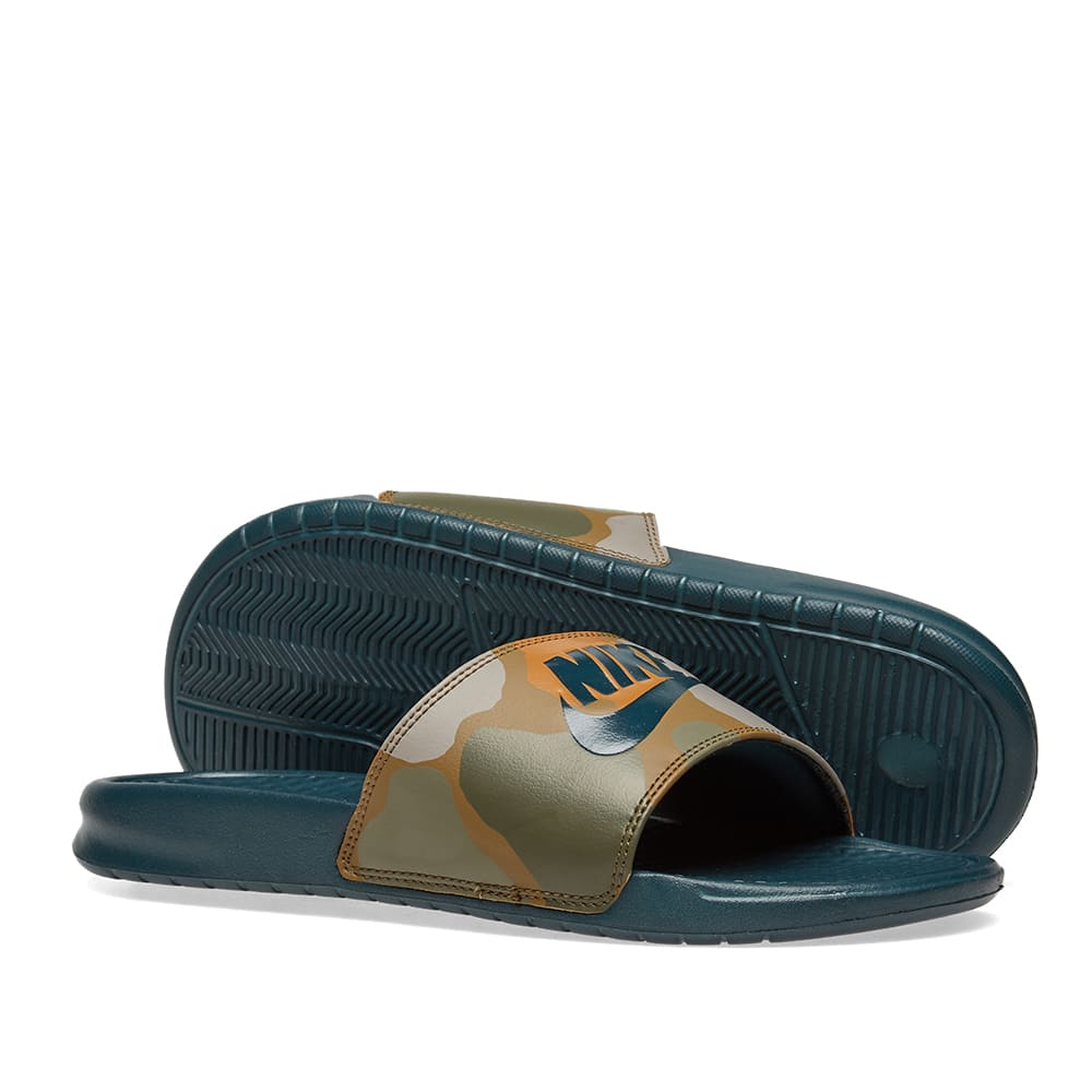 newest collection e8c21 ea8a2 Nike Benassi JDI Print. Midnight Spruce