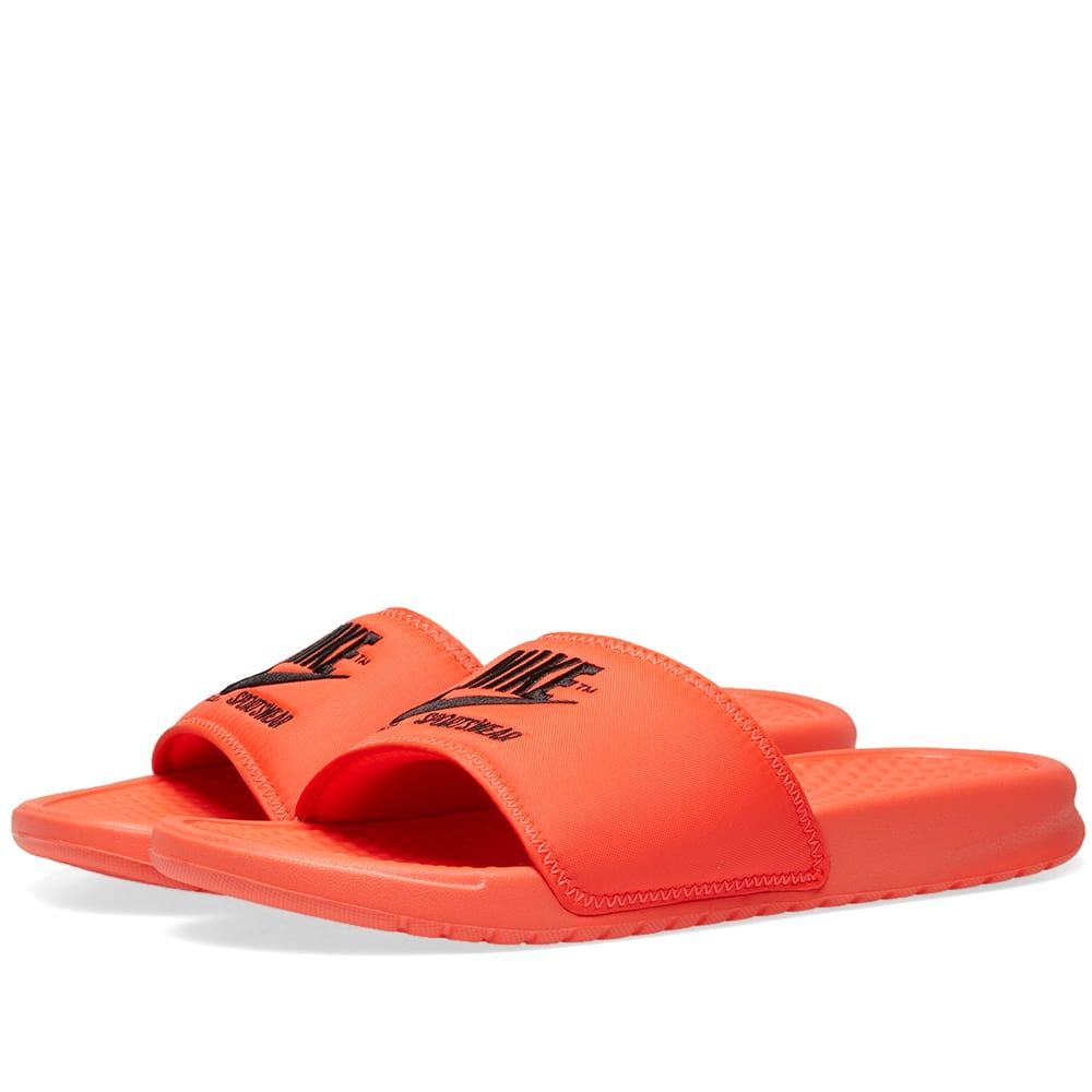 buy online 91598 a2aa7 Nike Benassi JDI TXT SE Crimson   Black   END.