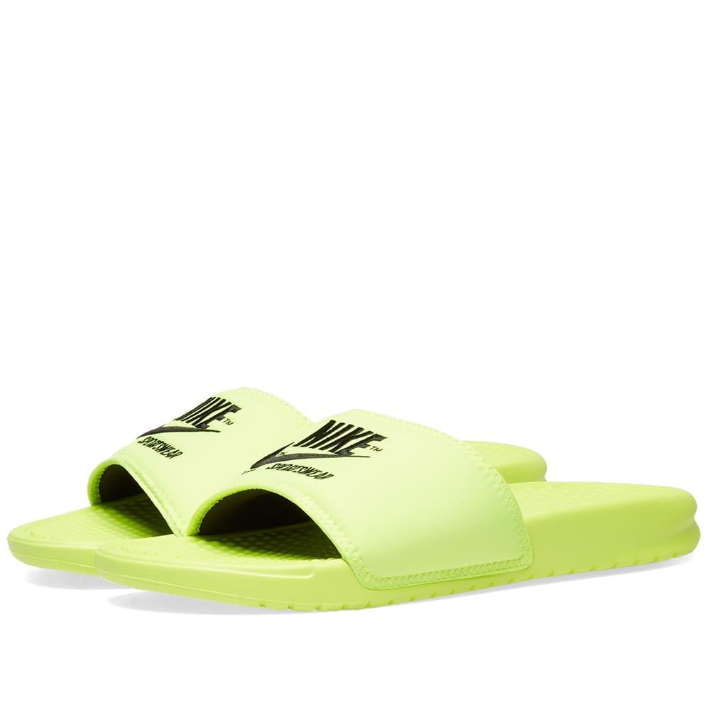 brand new 47a50 bba4d Nike Benassi JDI TXT SE Volt   Black   END.