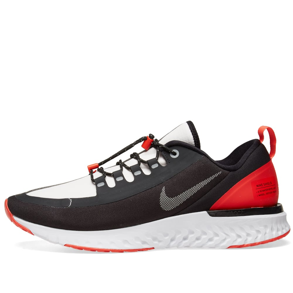huge discount 0c368 a7160 Nike Odyssey React Shield Black, Silver   Red   END.