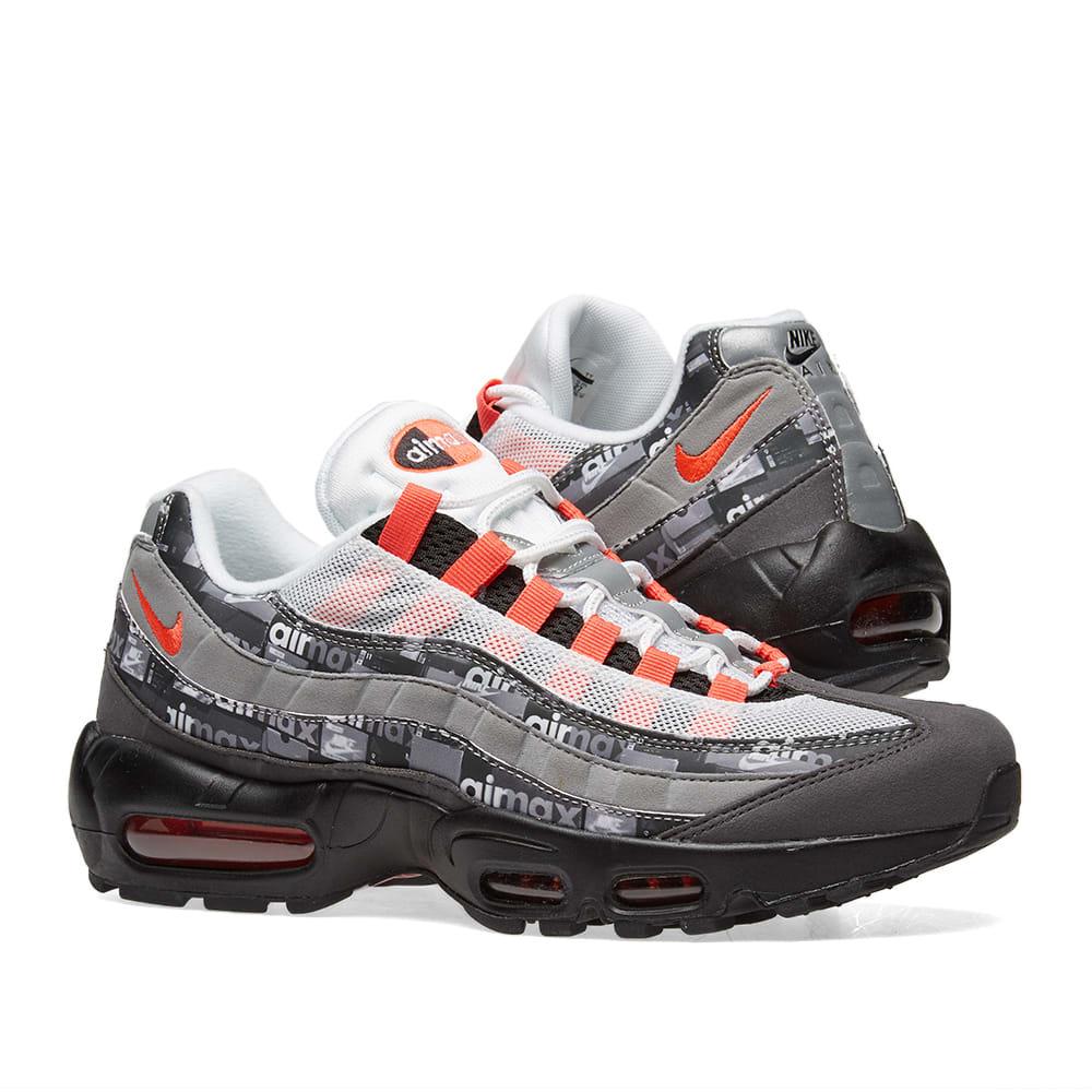 hot sale online 40fc5 7a7ec Nike x Atmos Air Max 95 Print. Black, Crimson   Ash