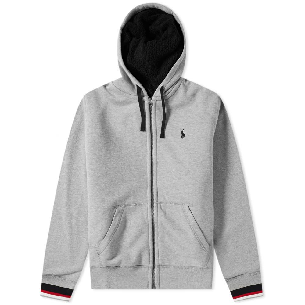 Polo Ralph Lauren Sherpa Lined Zip Hoody in Grey