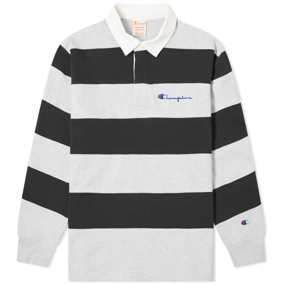 Champion Reverse Weave Striped Rugby Shirt