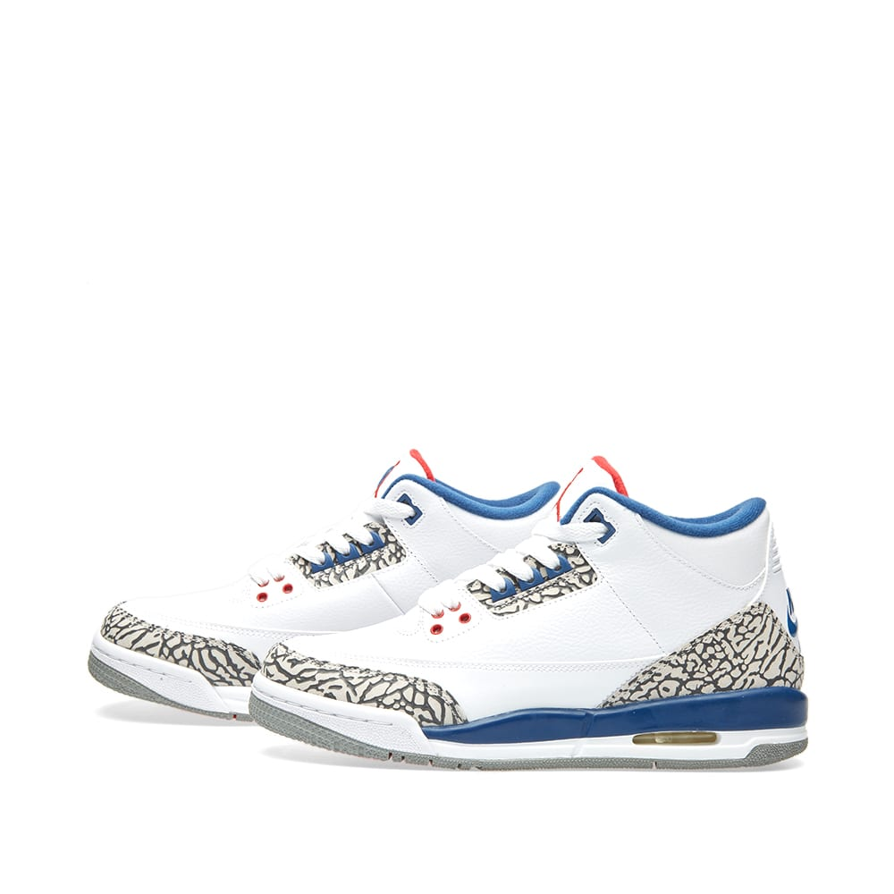 more photos d5e55 59ee9 Nike Air Jordan 3 Retro OG BG White, Fire Red   True Blue   END.