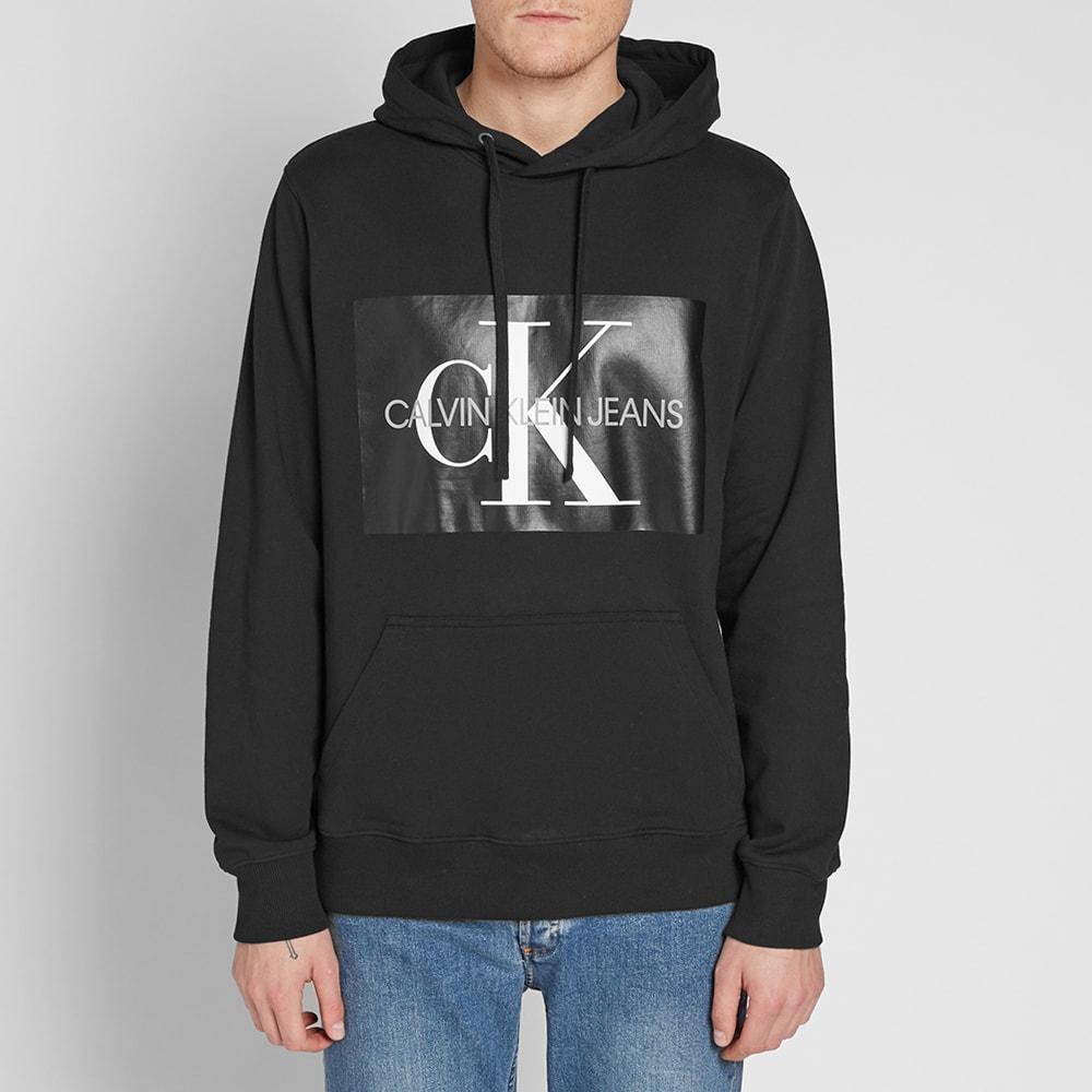 7bf2c2feda8 Calvin Klein Monogram Box Logo Hoody CK Black