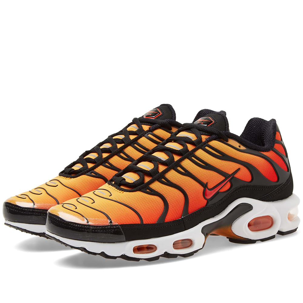 Details about Nike Air Max Plus Tn OG Sunset Black White Orange Men's BQ4629 001 Size 5