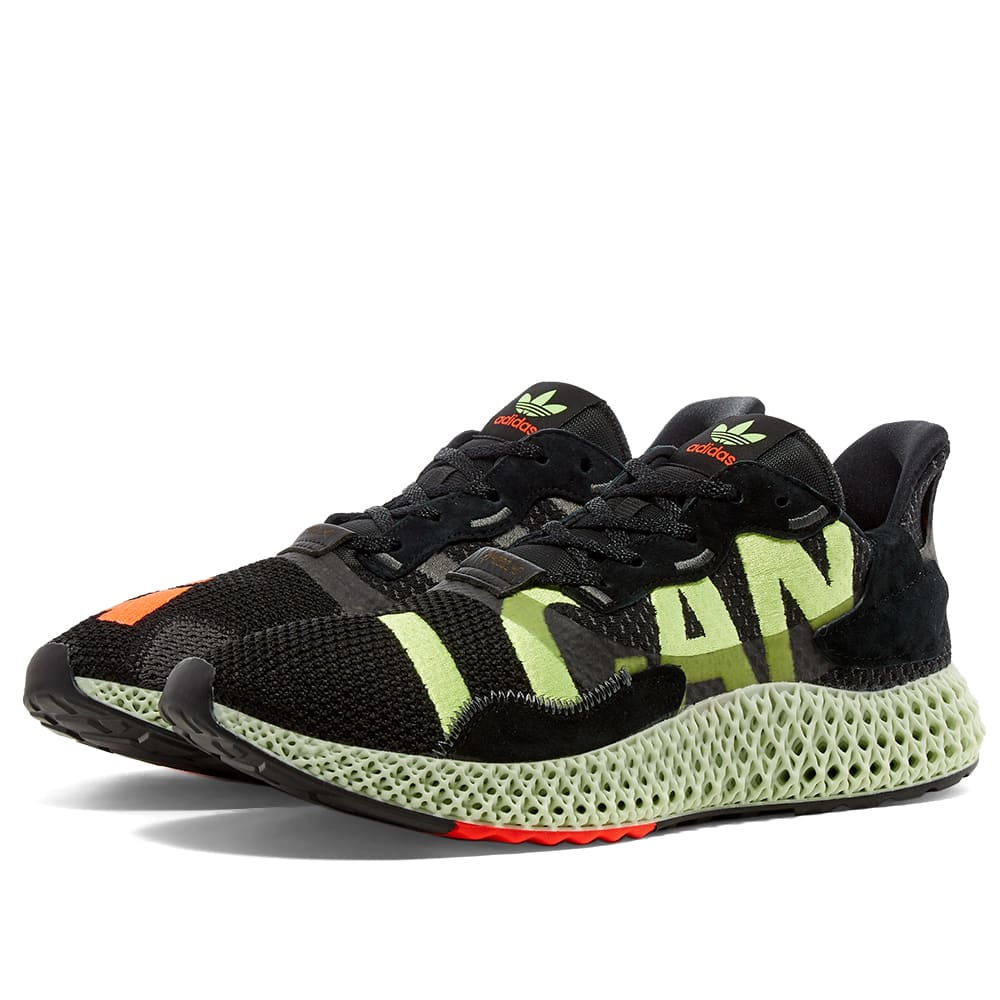 Obligar Humedad Genuino  Adidas ZX 4000 4D Black, Green & Black | END.