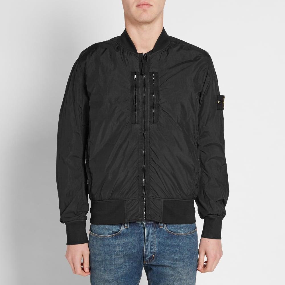 350de1488 Stone Island Garment Dyed Crinkle Reps Bomber Jacket