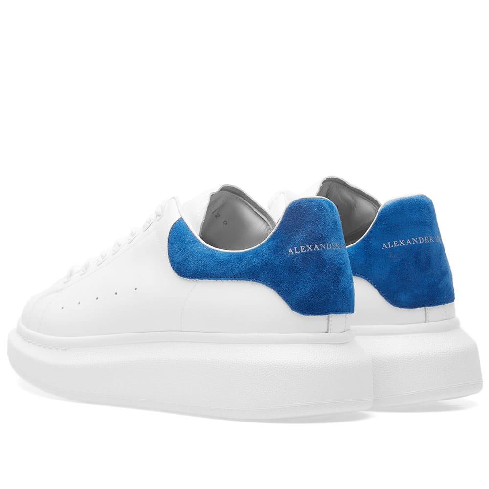 Alexander McQueen Wedge Sole Suede Heel Tab Sneaker