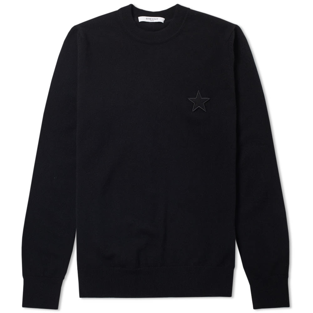GIVENCHY Black Stars Patches Sweater
