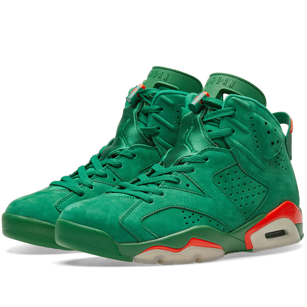 35d30d93569717 Nike Air Jordan 6 Retro Energy  Gatorade  Pine Green   Orange Blaze ...
