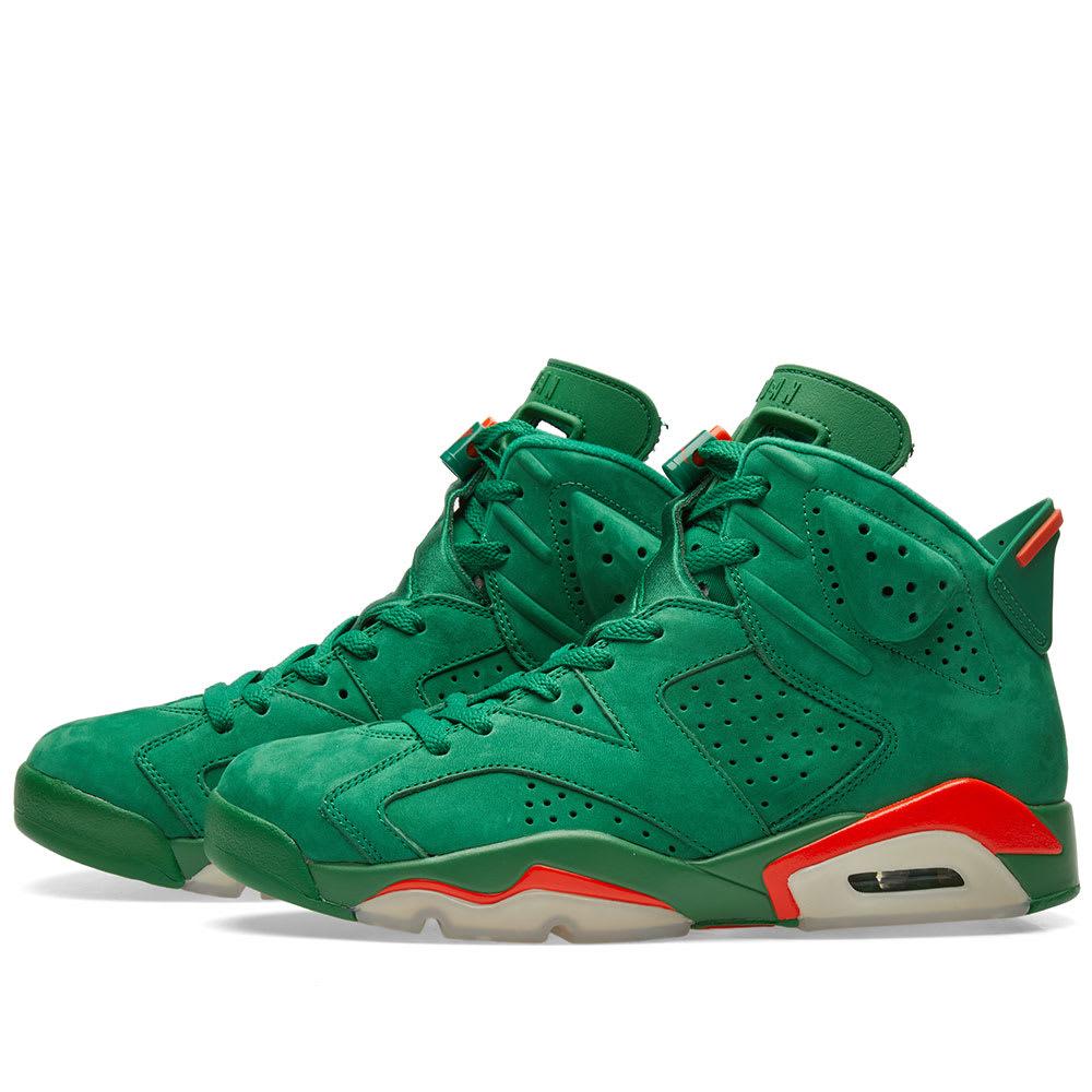 3530daed41c458 Nike Air Jordan 6 Retro Energy  Gatorade  Pine Green   Orange Blaze ...