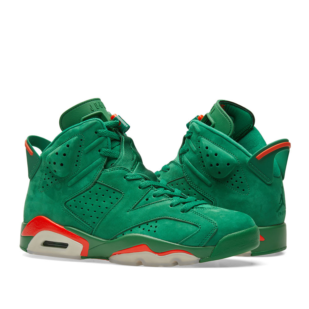 33886e1eb7ad Nike Air Jordan 6 Retro Energy  Gatorade  Pine Green   Orange Blaze ...