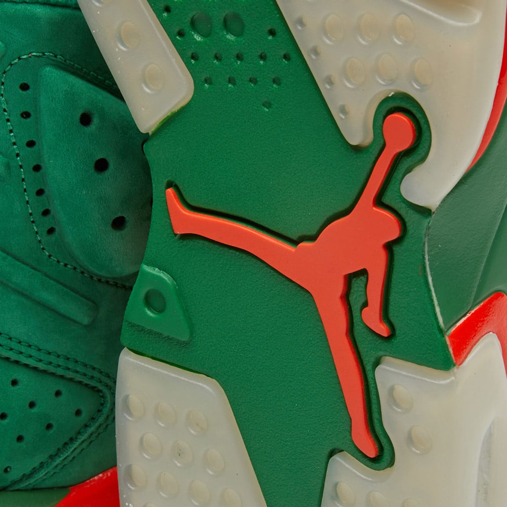 fdb3badaad19 Nike Air Jordan 6 Retro Energy  Gatorade  Pine Green   Orange Blaze ...