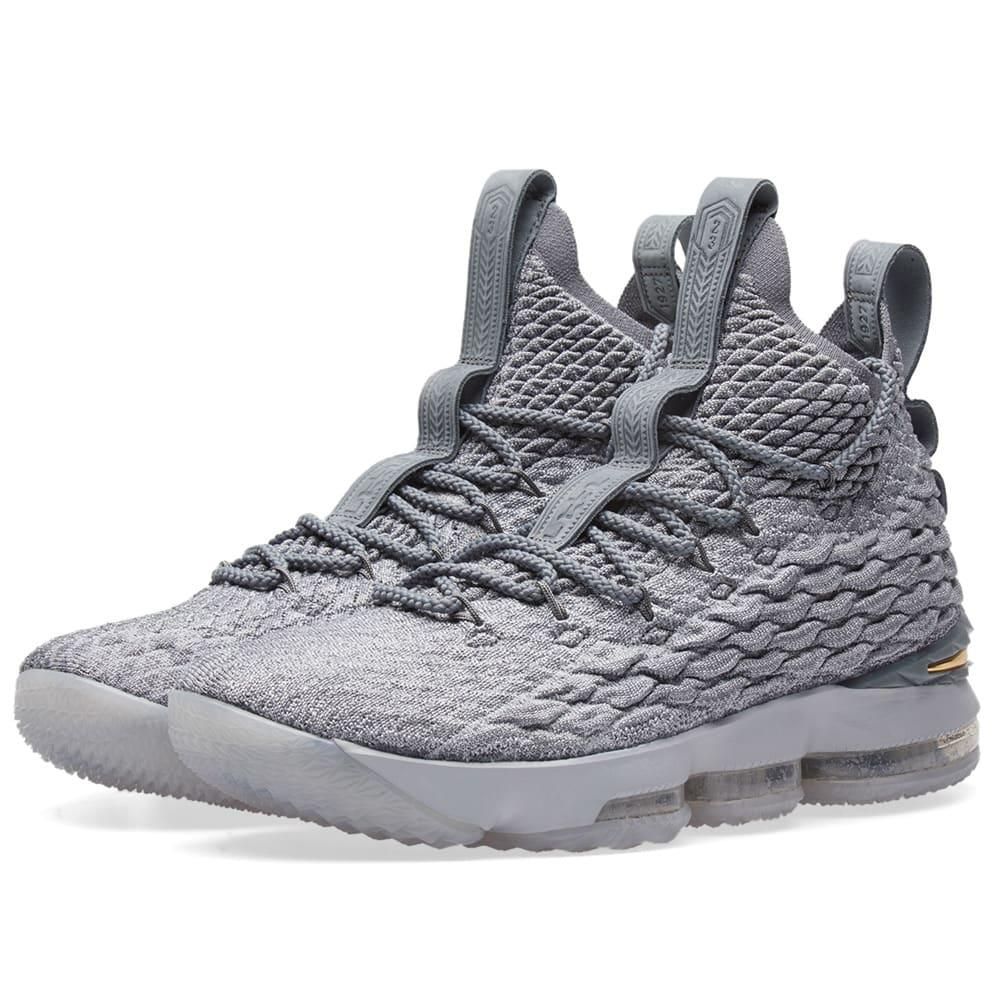 premium selection 2ee82 c6c66 Nike LeBron XV Wolf Grey, Gold   Cool Grey   END.