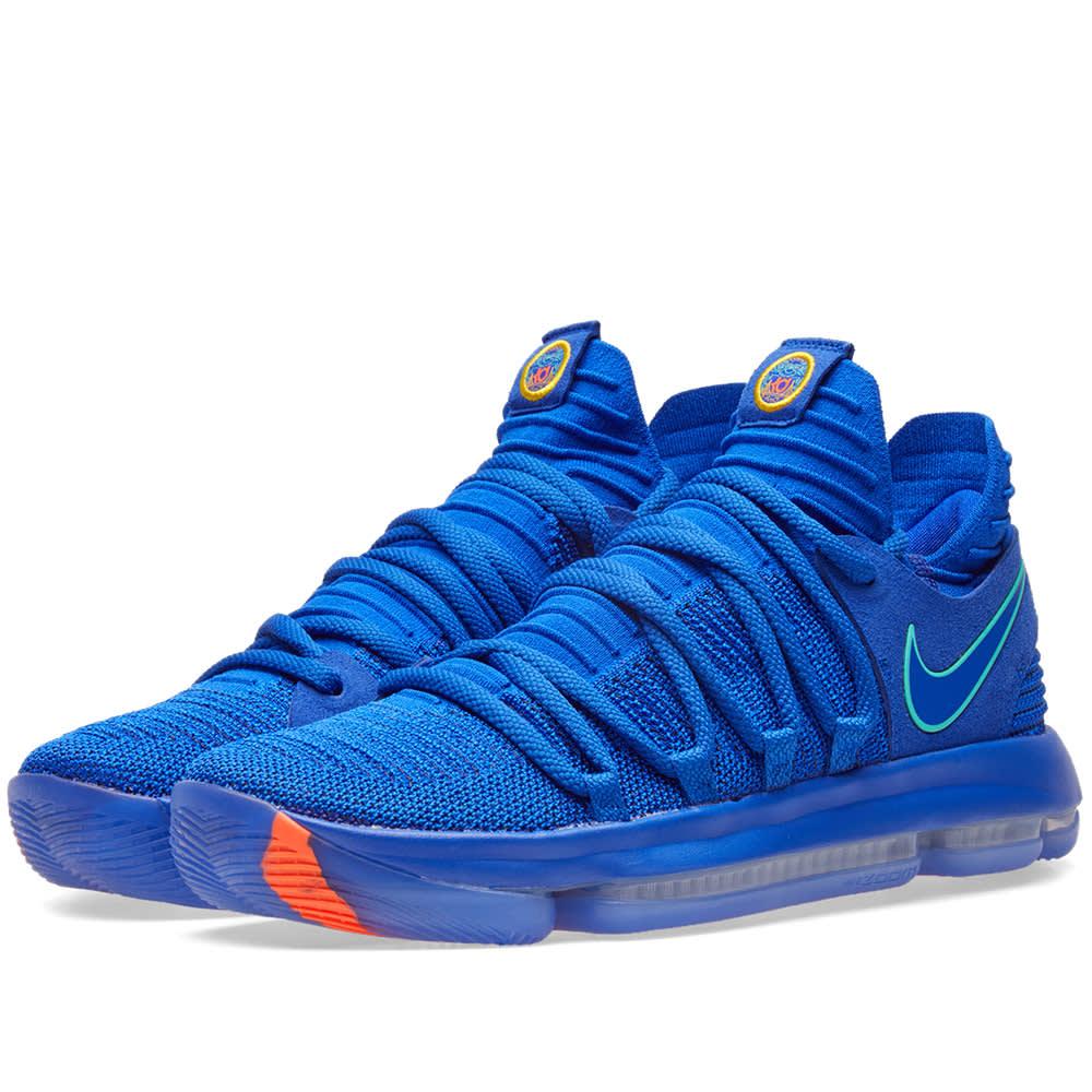 new style 514fa dd311 Nike Zoom KD10 Blue, Light Menta   Black   END.