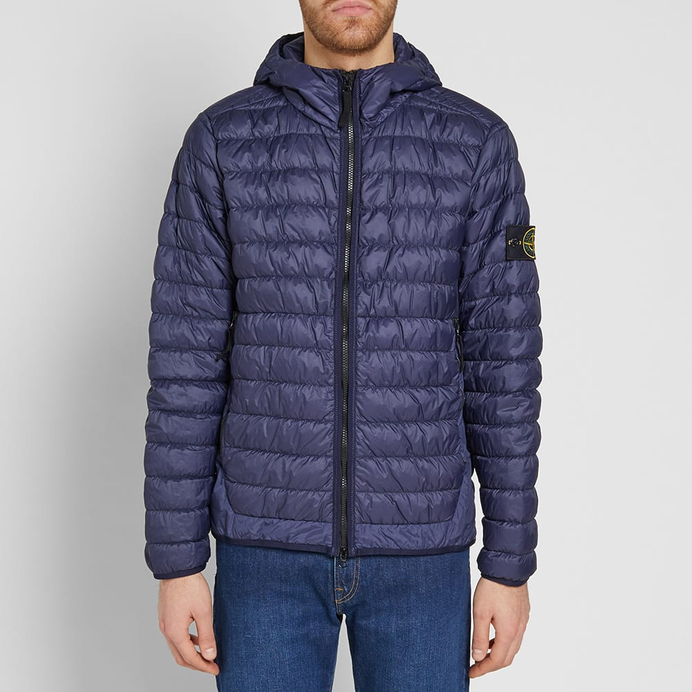 half off coupon code online store Stone Island Garment Dyed Micro Yarn Down Hooded Jacket Inchiostro ...