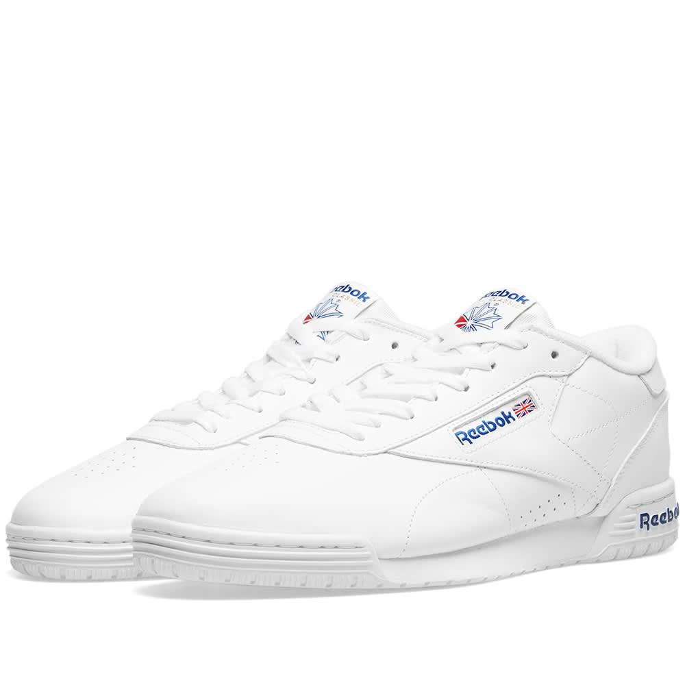 9020d0a32ed Reebok Ex-O-Fit Clean Logo Int White   Royal Blue