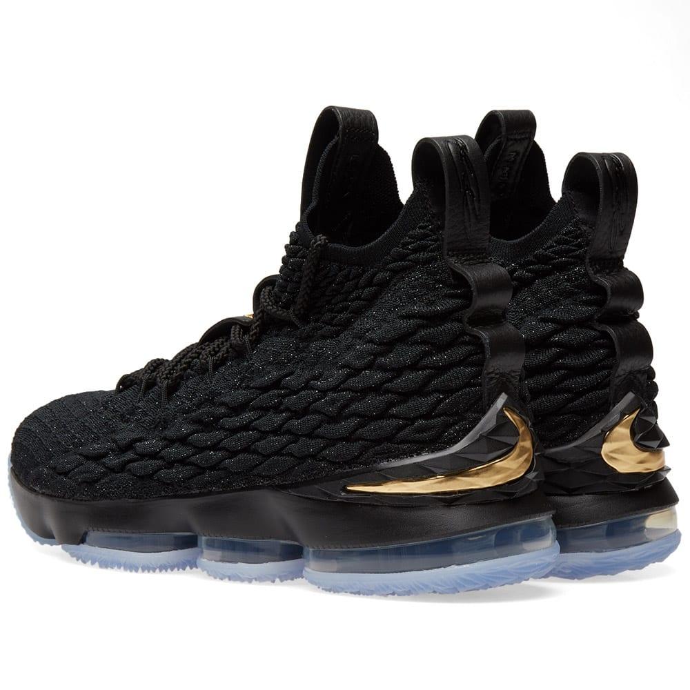 31245aecd55e Nike LeBron XV Ghost Black   Metallic Gold
