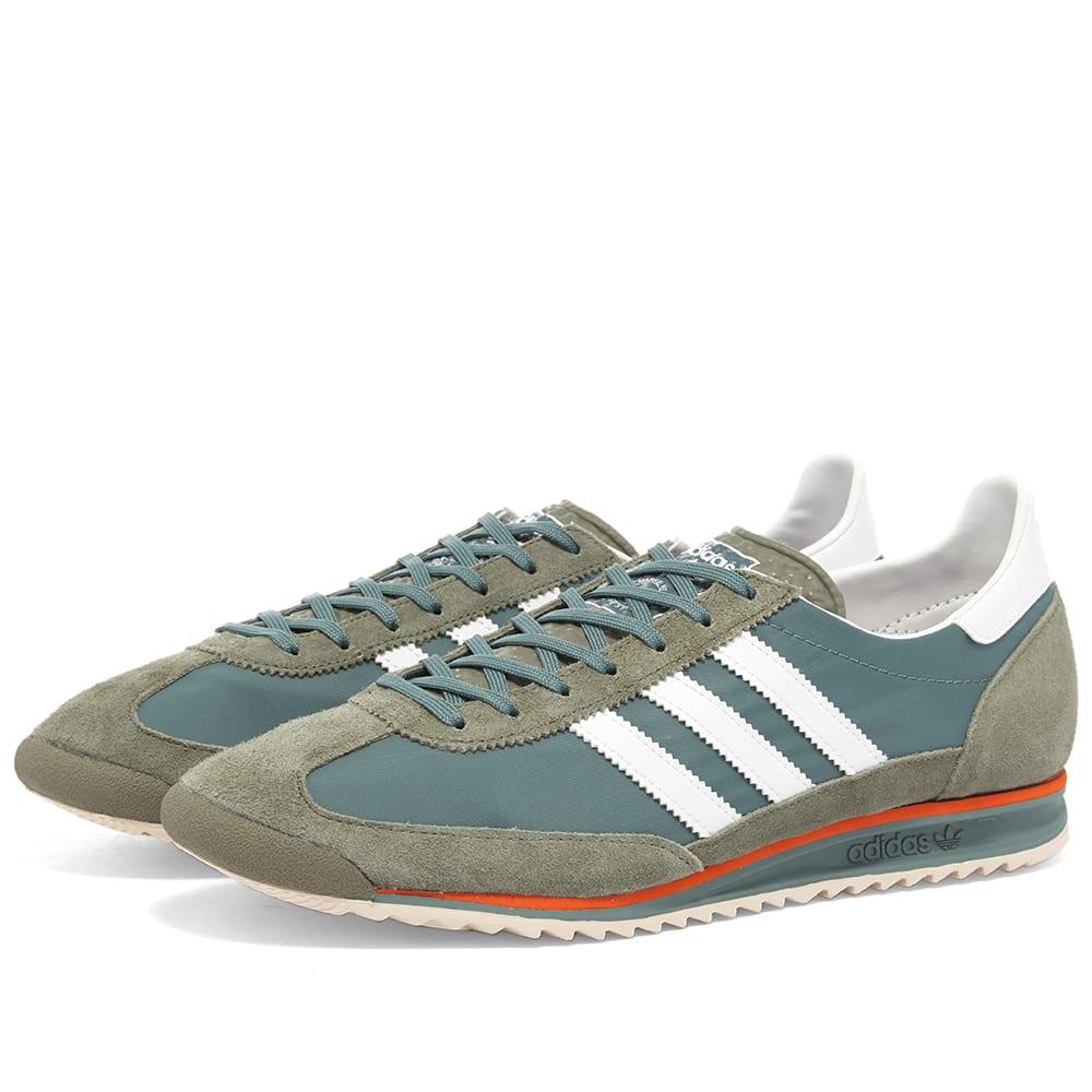 Adidas SL 72 Raw Green, White \u0026 Orange