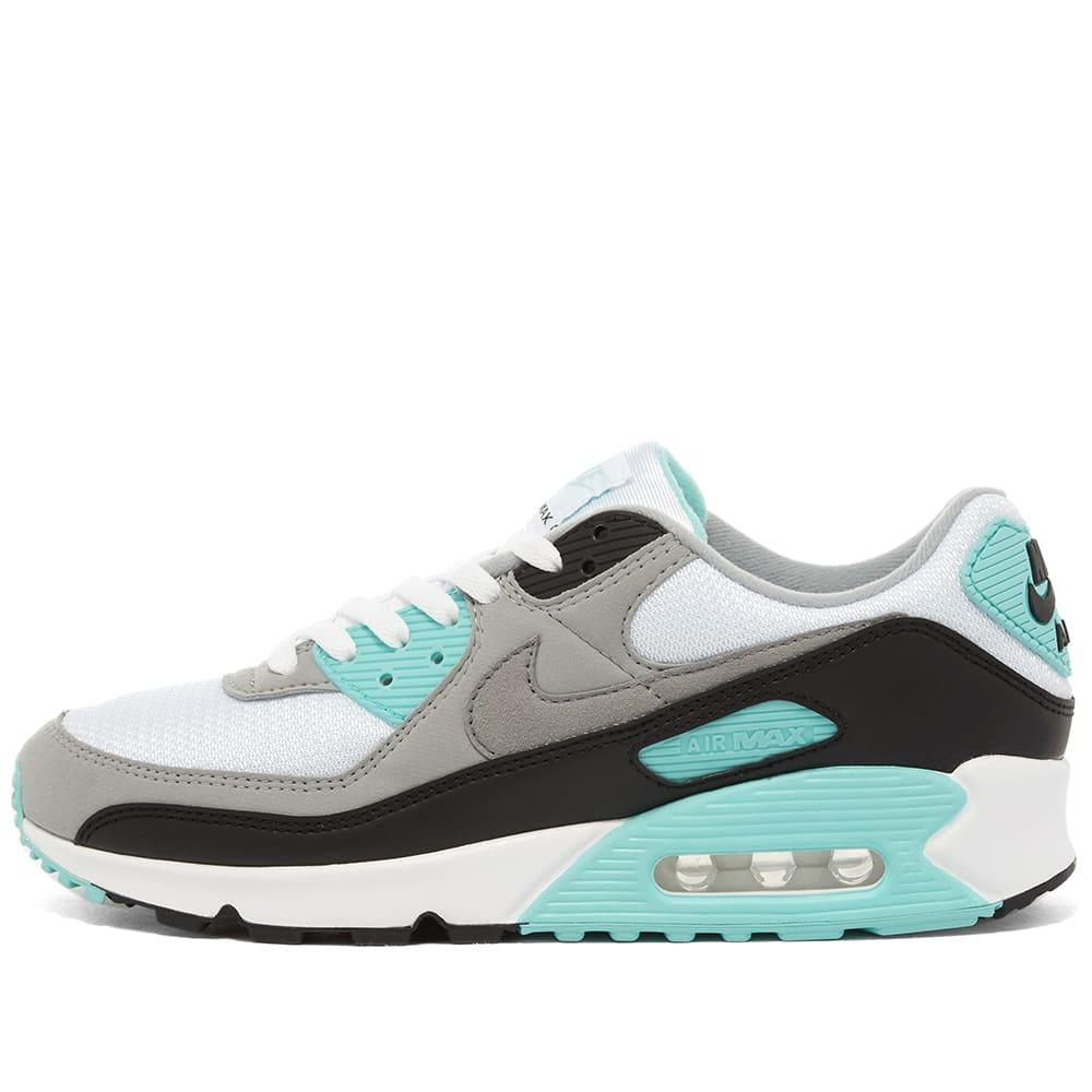 nike air max 90 blue and grey