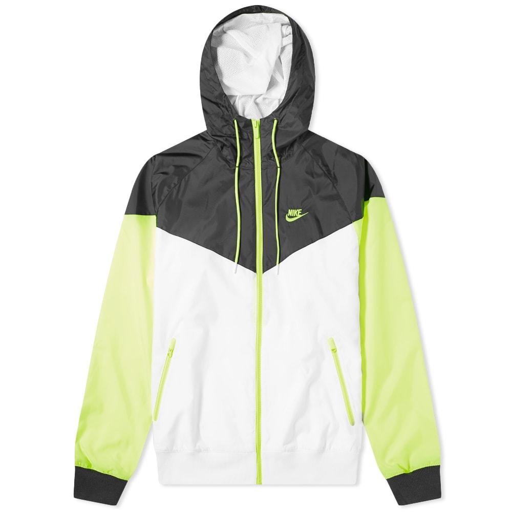 insalubre Lo dudo fenómeno  Nike Windrunner Jacket White, Black & Volt | END.