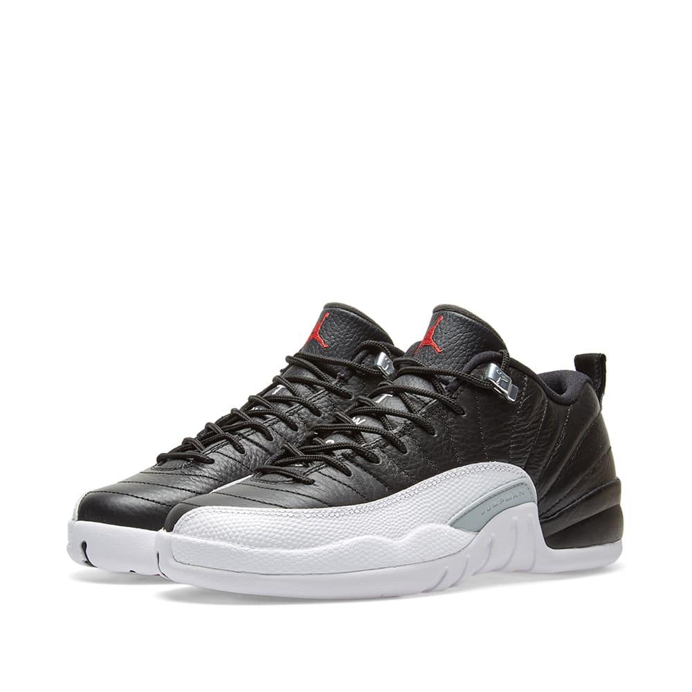 best website b84ca 47b5a Nike Air Jordan 12 Retro Low BG Black, Varsity Red   White   END.