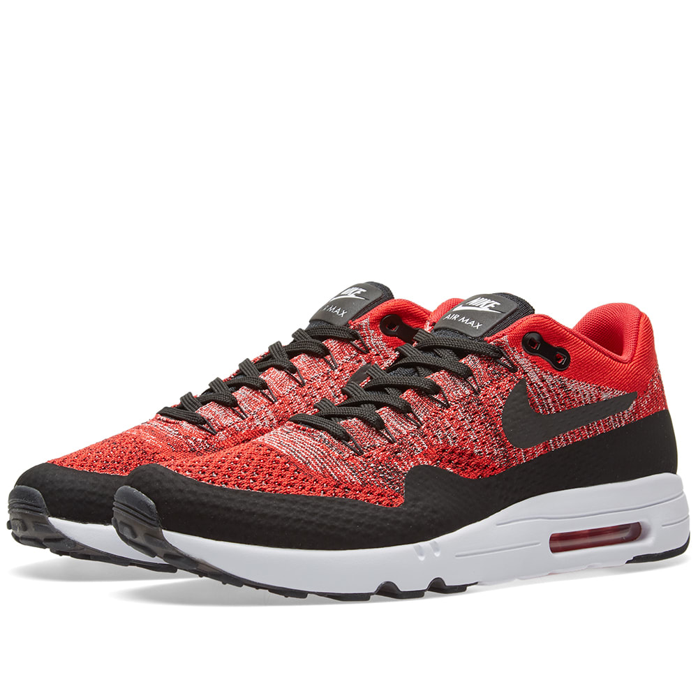 72d958910 Nike Air Max 1 Ultra 2.0 Flyknit University Red & Black | END.