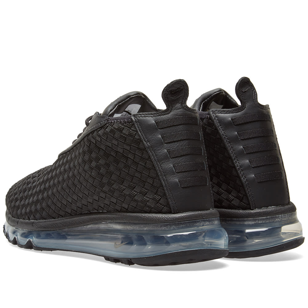 nike air max woven boot black &