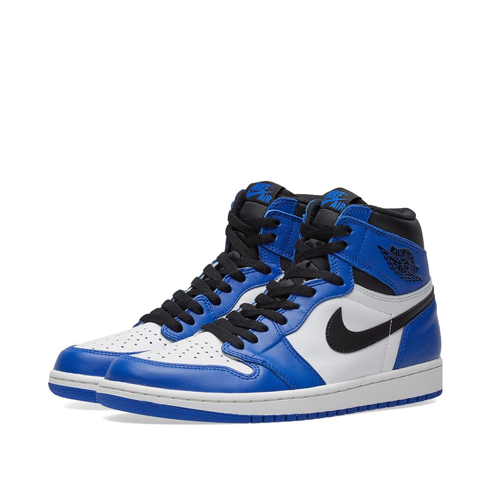 best cheap 073f5 7a2d2 Nike Air Jordan 1 Retro High OG GS Game Royal, Black   White   END.