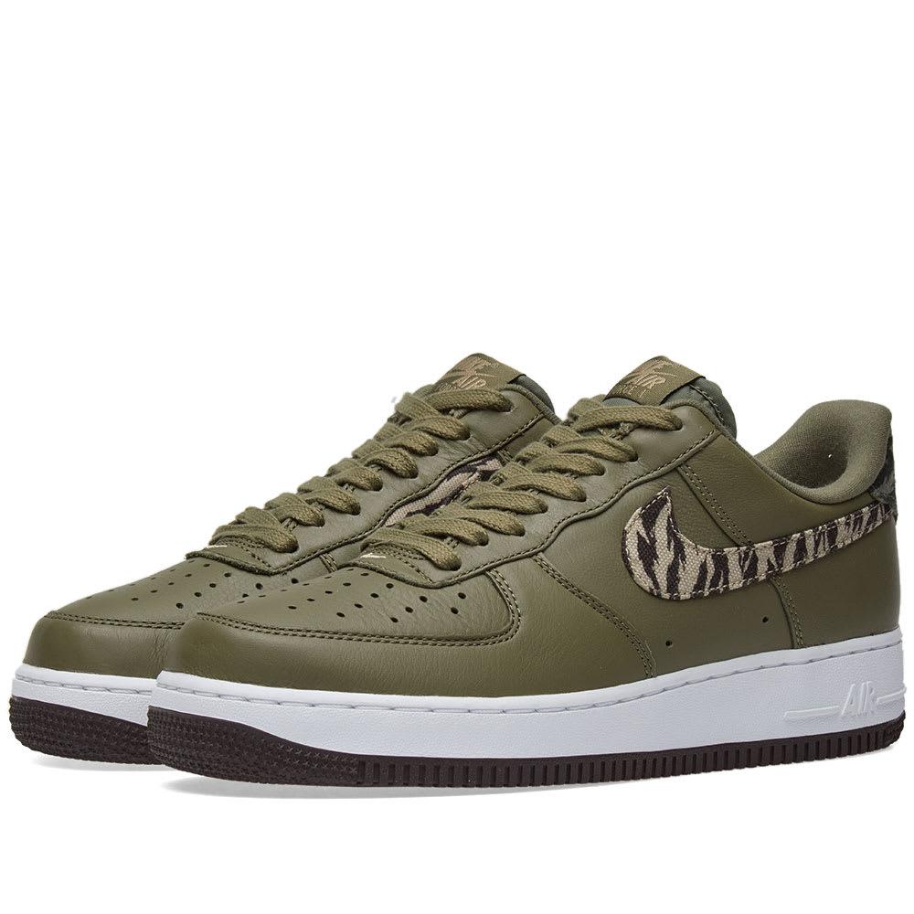 online store d4e46 dcd2c Nike Air Force 1 Premium  Tiger Camo  Olive Camo   END.