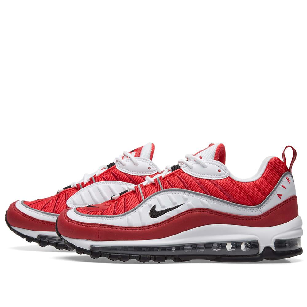 9f1e93ab71 Nike Air Max 98 W. White, Black, Red ...