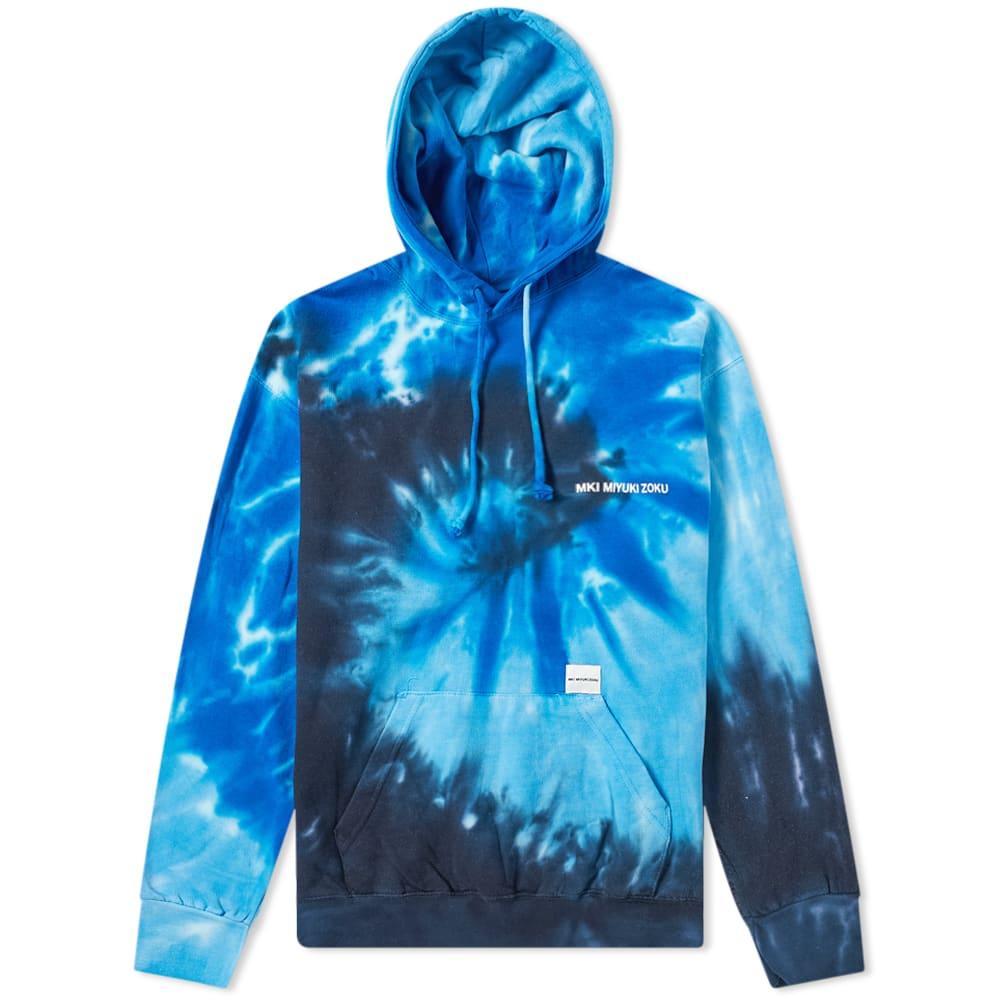 MKI MIYUKI ZOKU | MKI Tie Dye Hoody Deep Sea | Goxip