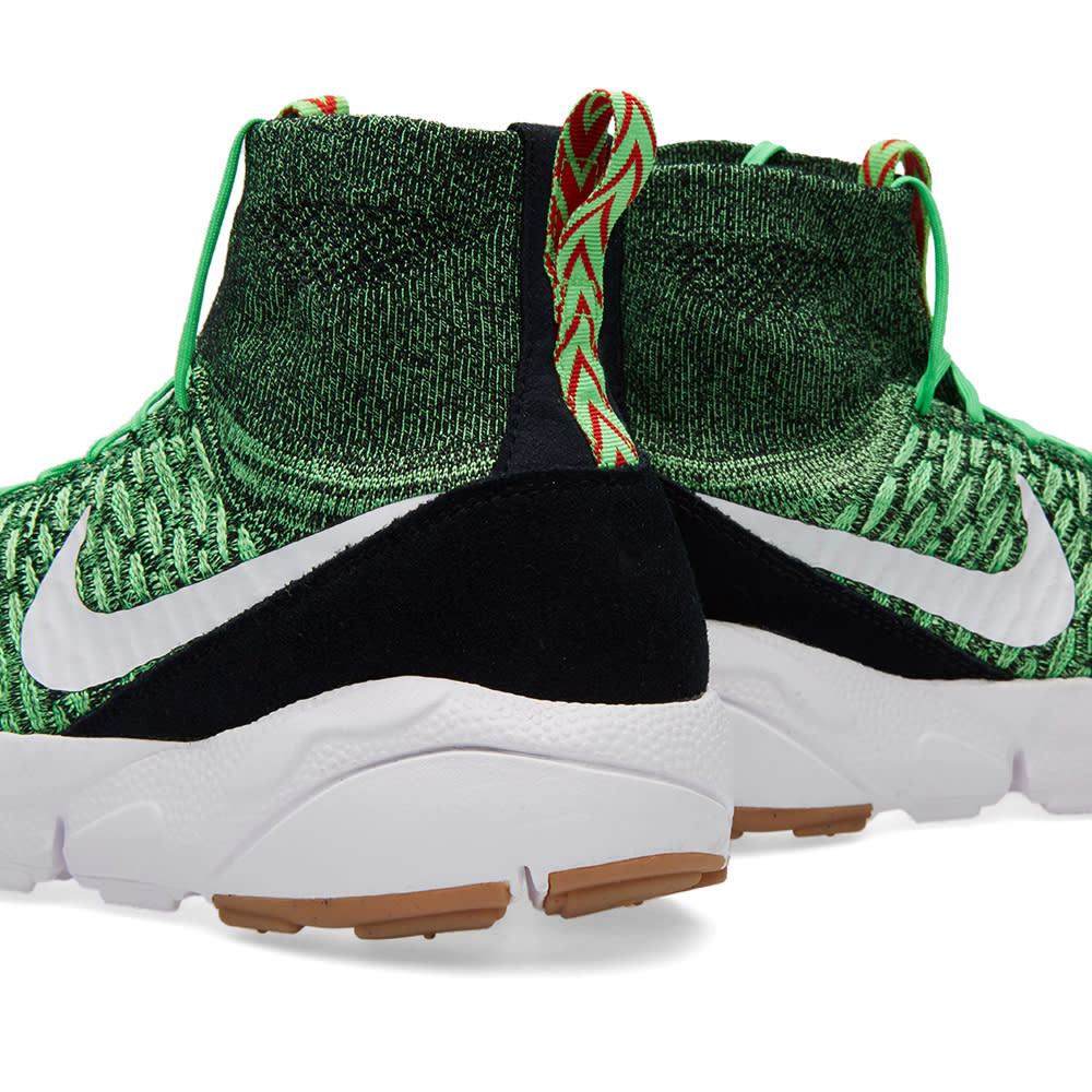 sports shoes db305 a7e52 Nike Air Footscape Magista Flyknit Poison Green   White   END.