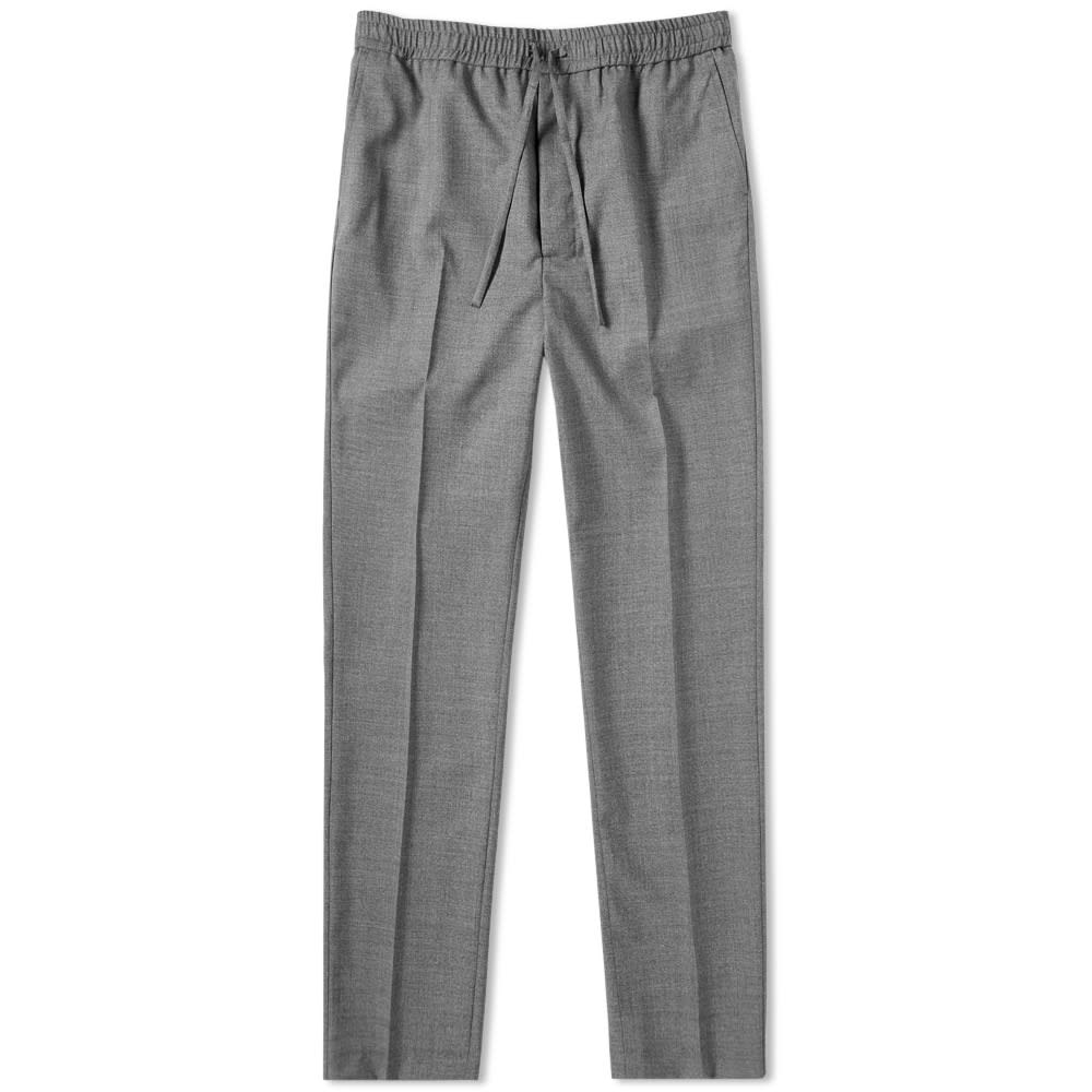 f8ba3e52b54bf0 AMI Carrot Fit Wool Trouser Heather Grey | END.